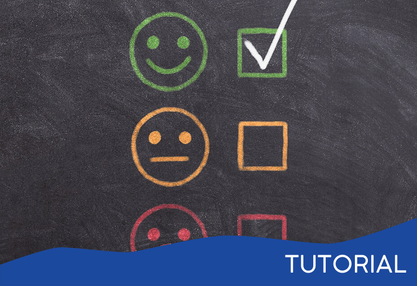 happy, so so, and sad faces on a chalkboard with check boxes - featured image for the Dealing with Low Performers tutorial from Truby Achievements
