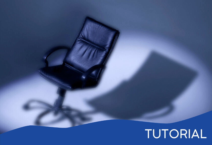 executive chair with a shadow - featured image for the Power In the Chair tutorial from Truby Achievements
