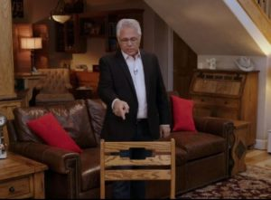 image of Bill Truby pointing at a chair - featured image for the power in the chair tutorial from Truby Achievements