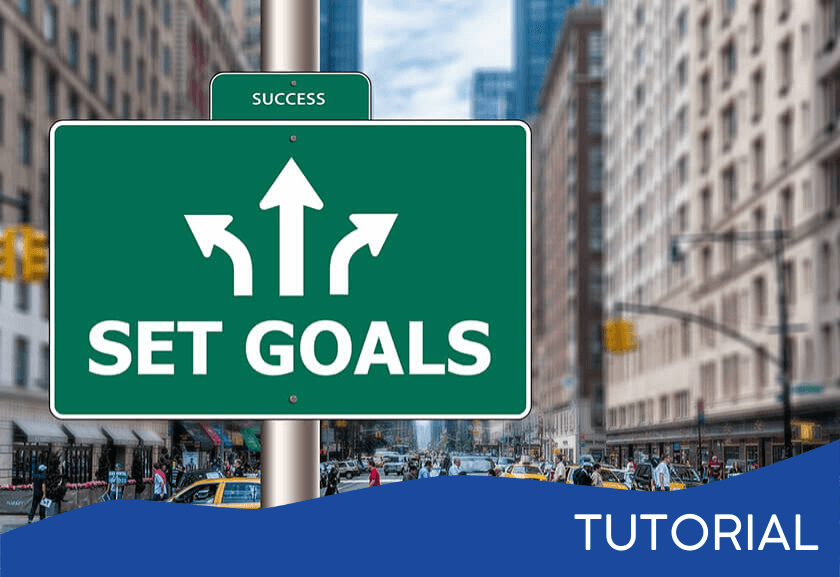 stress sign that says set goals with three arrows - featured image for a Setting Goals related tutorial from Truby Achievements
