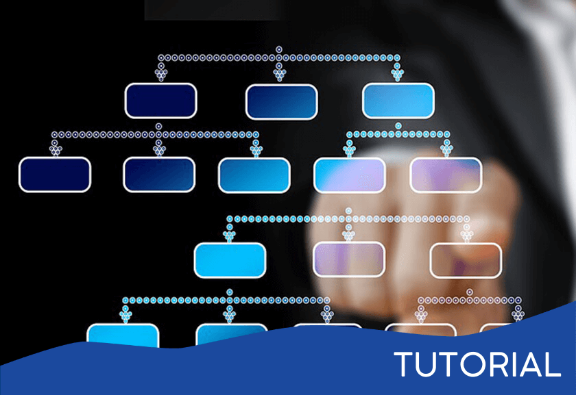 org chart on a glass board with someone pointing at a box - featured image for a Team Organization Structure related tutorial from Truby Achievements