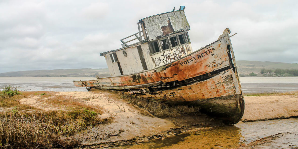 rusted shipwreck - from Shipwreck – A Lesson in Leadership article by Truby Achievements