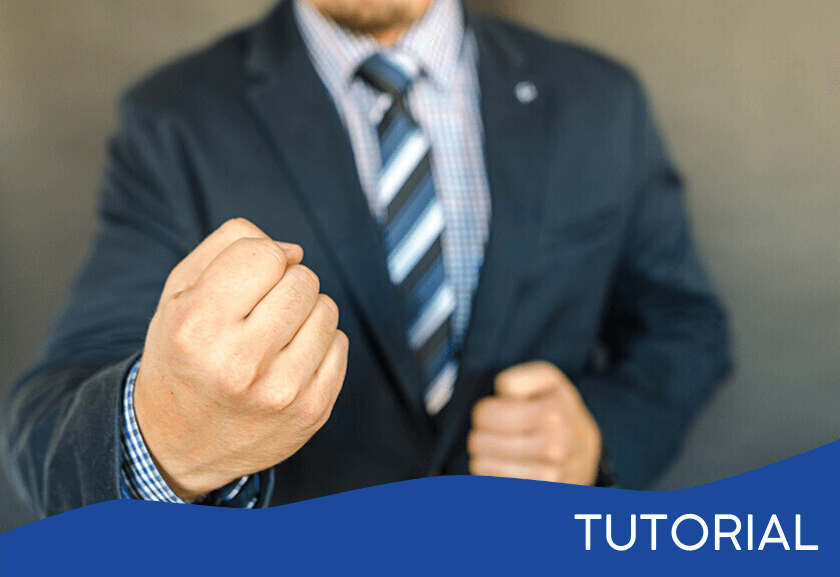 man with a formed fist - featured image for the Dealing with Passive Aggressive Behavior related tutorial from Truby Achievements