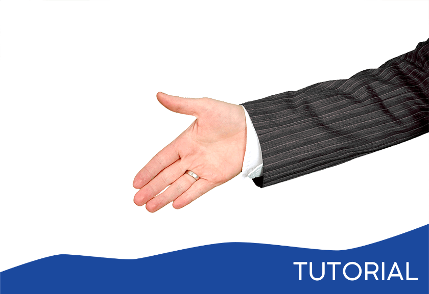 man handing out his hand for a handshake - featured image for the Onboarding tutorial from Truby Achievements
