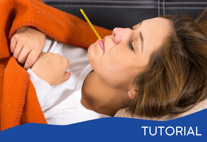 sick woman lying on the couch with a thermometer - featured image for the Lack of Teamwork tutorial from Truby Achievements
