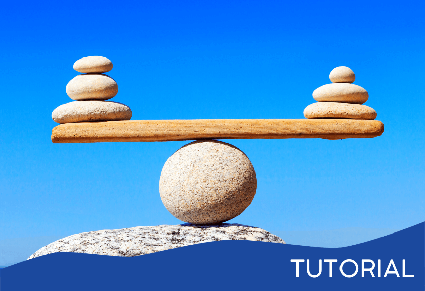 balanced rocks on wood - featured image for the Live a Balanced Life tutorial from Truby Achievements