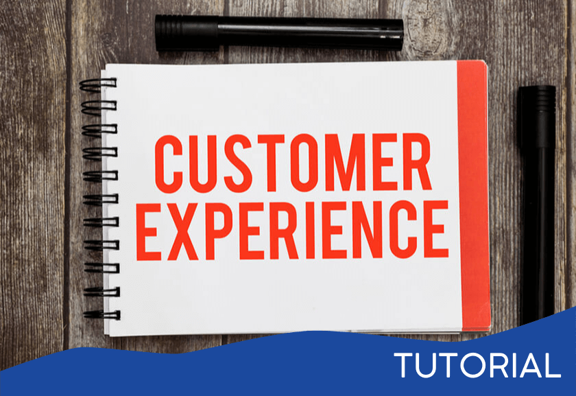 sign saying customer experience - featured image for the Peak-End Rule tutorial from Truby Achievements