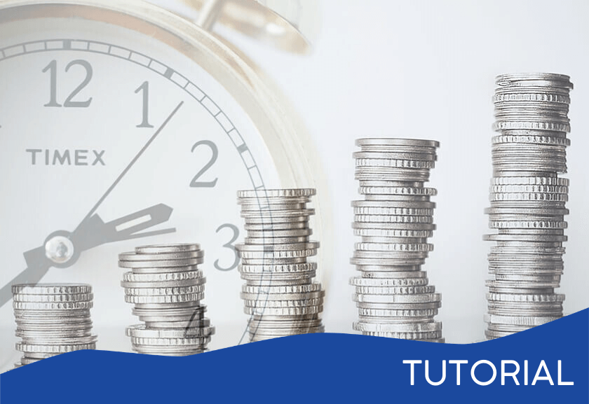 piles of increasing coins in front of a clock - featured image for the ROI Thinking tutorial from Truby Achievements