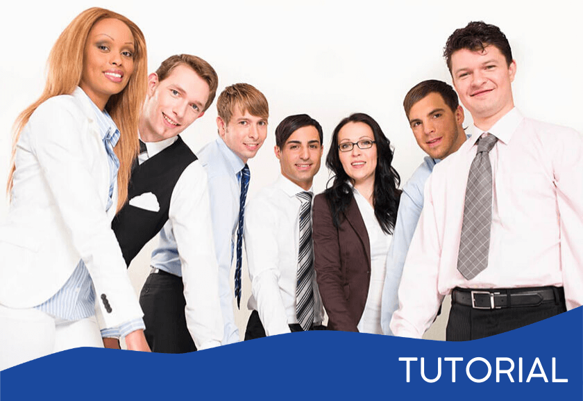 group of employees standing together - featured image for the Building a Task Team tutorial from Truby Achievements