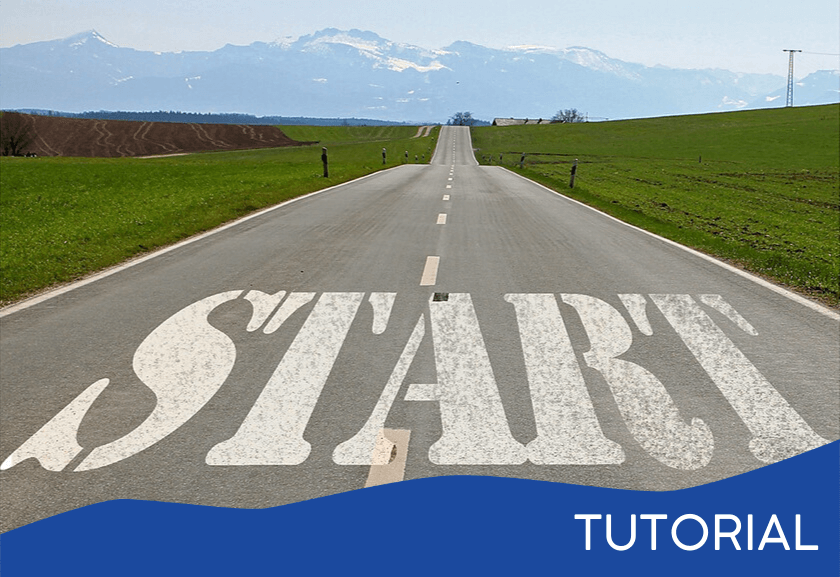 start painted on a road - featured image for the Truby Management System Tips tutorial from Truby Achievements