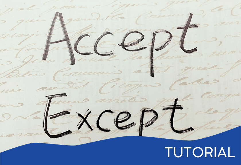 words saying accept and except - featured image for the Unwanted Realities tutorial from Truby Achievements