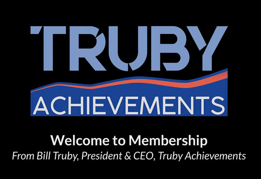 screenshot of the welcome video - for the video to welcome members to the Truby Achievements membership site