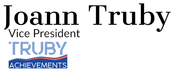 Joann Truby author blog signature for truby achievements - help grow your business with leadership, management and team building training