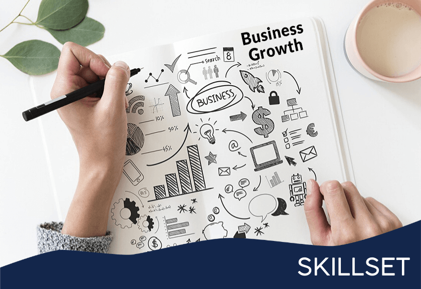 business growth doodles in a notebook - featured image for business development growth skillset from truby achievements