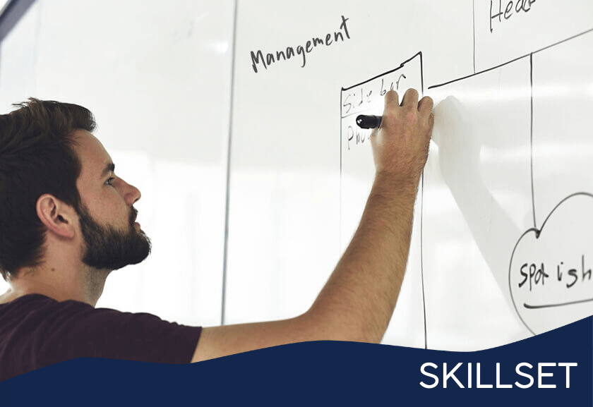 writing on a white board - featured image for management skills training from truby achievements