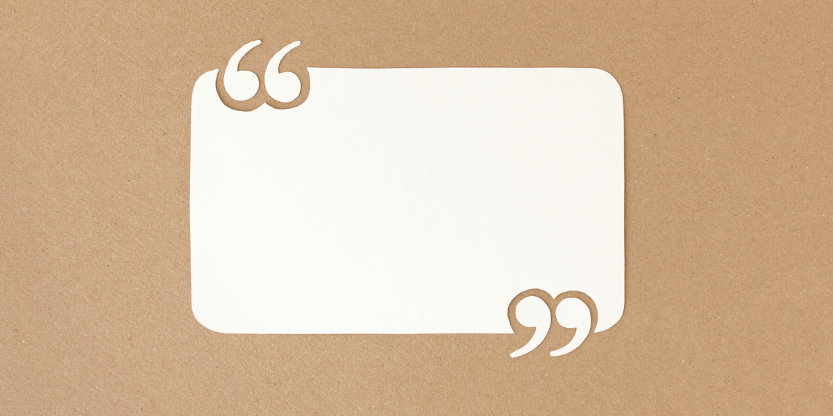 blank quote block on a corkboard - featured image for article - ultimate list of leadership quotes article compiled by Truby Achievements