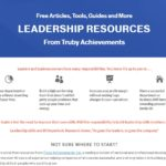 screen shot of the free leadership resources page from truby achievements