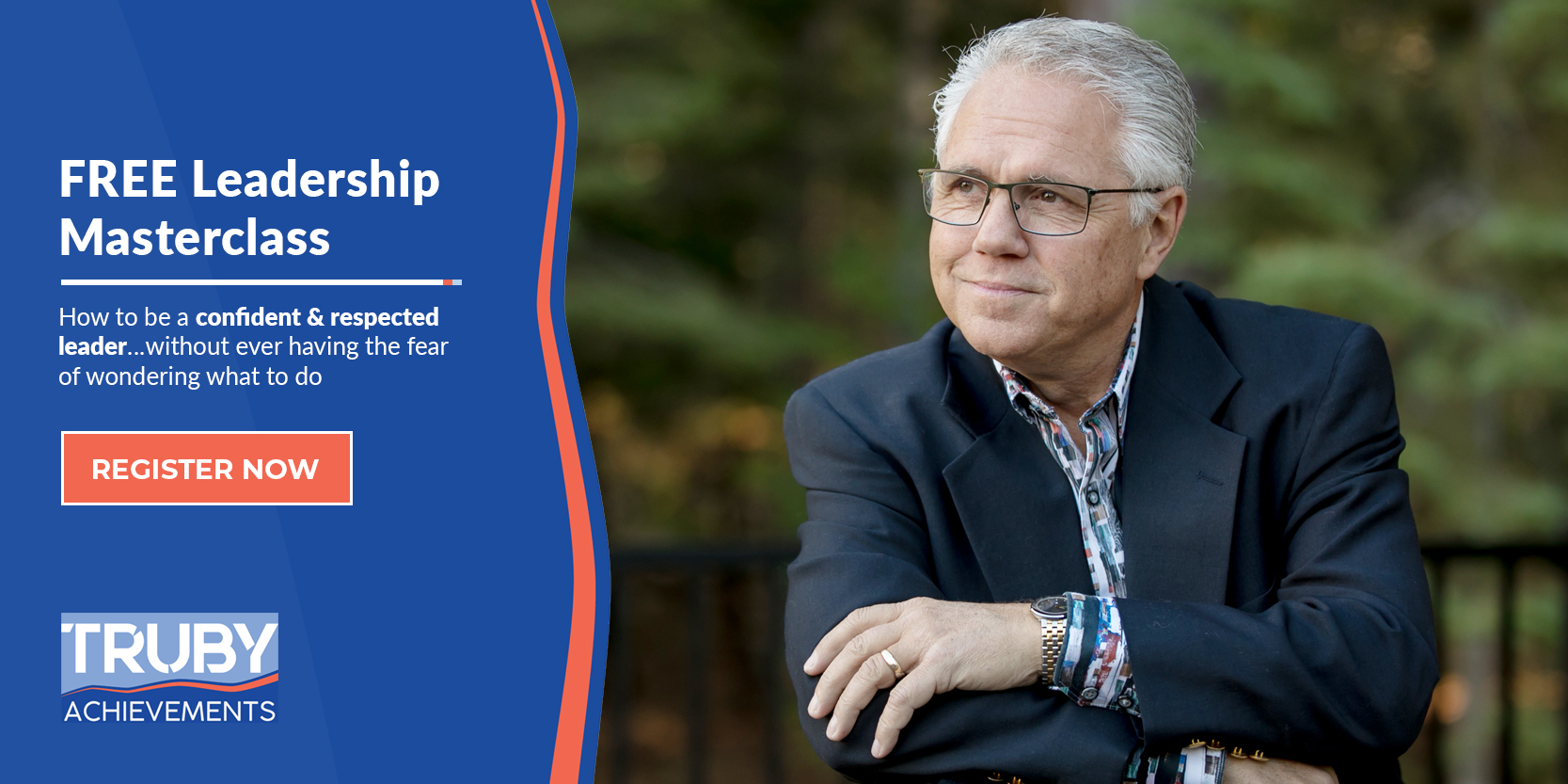 photo of bill truby and text for free leadership masterclass to become a more confident and successful leader