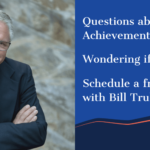 """photo of bill truby with arms crossed and smiling with words """"questions about the truby achievements membership? schedule a free 30-minute call"""""""