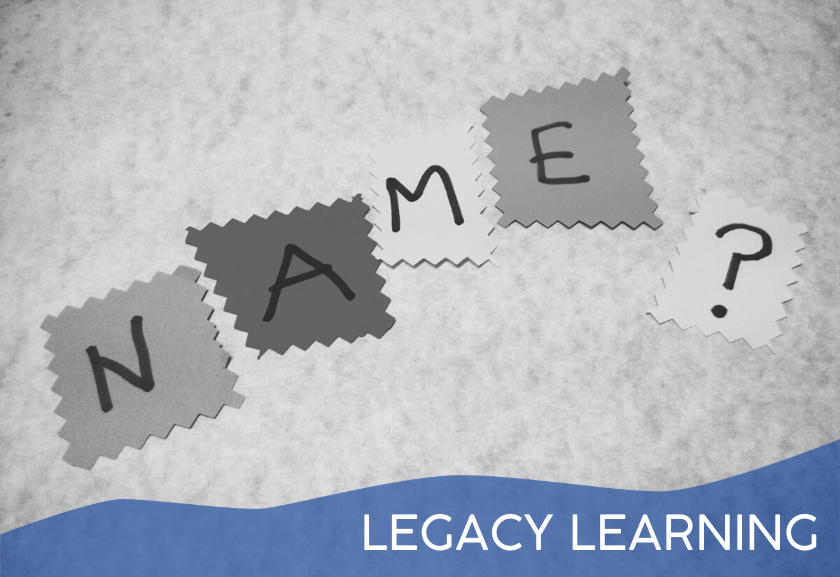 name and a question mark on sticky notes - featured image for how to remember a name tutorial from truby achievements