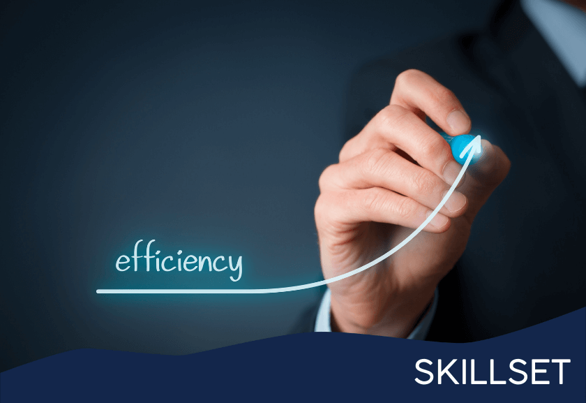 drawing a board with efficiency and a curve up - featured image from manage efficiency training from truby achievements membership